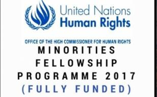 United Nations OHCHR Minorities Fellowship Programme 2017 (Fully Funded)
