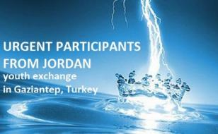 Youth Exchange for Young People from Jordan (Urgent) Gaziantep, Turkey